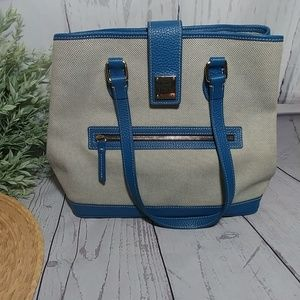 Dooney & Bourke mint condition blue canvas handbag